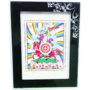 Картина Король Гесар -Воин богатства и успеха, исполняющий желания (черная рама)